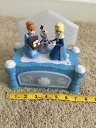 """Disney Frozen Jewelry Music Box Anna Elsa Sings The Song """"we're Together"""" Euc"""