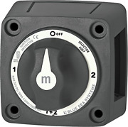 Blue Sea Systems M-series Mini Selector Battery Switch Black