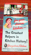 Vintage Retro 50and039s 1951 Youngstown Kitchens Brochure - Mint