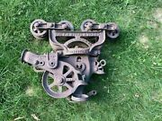 Antique Cast Iron F. E. Myers And Bro. Co. Adjustable Hay Unloader Trolley Pulley