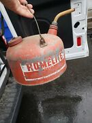 Vintage Homelite Round Metal Gas Can Chainsaw Advertising