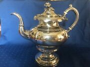 William Gale And Son New York Coin Silver Coffee Pot C1850 10 3/4 T 11 1/2 W