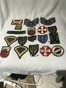 Wwii Ww2 Us Army And Aaf Patch Lot Of 18 World War 1 2 Ww1 Patches M1