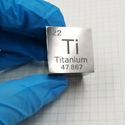 Titanium Metal Cube Ti Andge 99.5 Element Collection Length 1 Inch Specular Surface