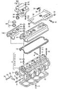 Genuine Vw Seat Audi Caddy Cylinder Head With Valves And Camshaft 028103265x