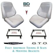1964 Lemans And Gto Touring Ii Front Bucket Seats Assembled And Adapter Brackets