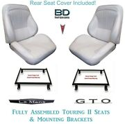 1964 Lemans And Gto Convertible Touring Ii Bucket Seats Brackets And Rear Cover