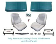 1964 Lemans And Gto Touring Ii Assembled Bucket Seats Adapter Brackets And Panels