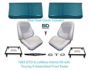 1964 Lemans And Gto Touring Ii Full Bucket Seats, Rear Seat Cover And Front Panels