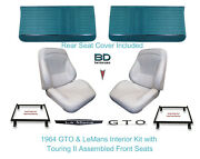 1964 Lemans And Gto Touring Ii Full Bucket Seats Rear Seat Cover And Front Panels