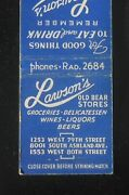 1940s Dick Lawson's Old Bear Stores Delicatessen 10 Types Of Keg Beer Chicago Il