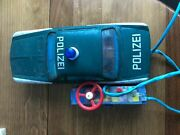 Vintage Bmw Bandai Police / Polizei Car Made In Japan With Control Vg++
