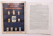 Lot Of 2 Vintage 1970s Beer Can Collector's Guide Books World Wide Dabbs Harris