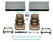 1965 Lemans And Gto Touring Ii Full Bucket Seats Rear Seat Cover And Front Panels