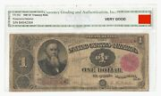 Fr350 1891 1 Stanton Treasury 'coin' Note – Small Red Seal – Very Good