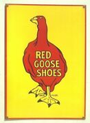 Graphic Old Red Goose Shoes Porcelain Sign