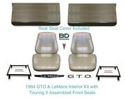 1967 Lemans And Gto Touring Ii Full Bucket Seats, Rear Seat Cover And Front Panels