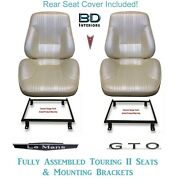 1967 Lemans And Gto Touring Ii Front Bucket Seats Adapter Brackets And Rear Cover