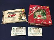 Lot Of Vintage 35 White Christmas Lights Designers Fancy Tree Topper Tested