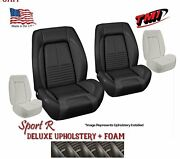 Sport R Deluxe Front And Rear Upholstery + Foam 1967 Camaro Convertible