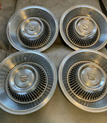 Lot Of 4 - Vintage 1966 Cadillac 16 Inch Hub Caps Wheel Covers