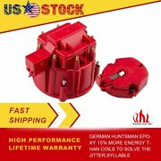 Hei Male Distributor Large Cap W/ Rotor Set For Chevy Ford Accel K549 Sbc Pink