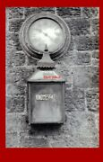 Photo Knowesgate Station Lamp And Clock On The Wall 20-9-61