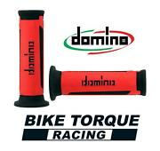 Domino A350 Red / Black Open End Road Touring Grips To Fit Laverda 750 Formula