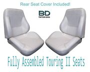 1968 Lemans And Gto Coupe Touring Ii Front Seats Assembled And Rear Seat Cover
