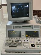 Phillips Sonos 5500 Ultrasound Machine With Probes Tapes Workbooks/sheets