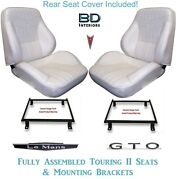 1969 Lemans And Gto Coupe Touring Ii Bucket Seats Brackets And Rear Cover
