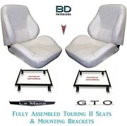 1969 Lemans And Gto Touring Ii Front Bucket Seats And Adapter Brackets