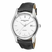 Frederique Constant Menand039s Fc-303s6b6 And039classicsand039 Black Leather Watch