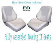 1969 Lemans And Gto Coupe Touring Ii Bucket Seats And Standard Rear Upholstery Cover