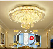 Remote Dimming Led Crystal Living Room Light Bedroom Dining Room Ceiling Lamp