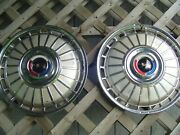 Two 1962 Ford Fairlane Galaxie Hubcaps Wheelcovers Center Caps Vintage Classic