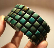 Rare Don Lucas Turquoise Sterling Silver Cuff Bracelet Signed