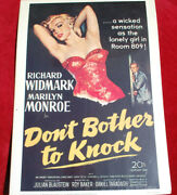 Marilyn Monroe In Dont Bother To Knock