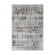 Furniture Of America Brianne Fabric 5'3 X 7'6 Area Rug In Beige And Gray