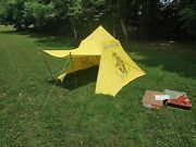 Vintage 1958 Lone Ranger Camp Duck Cloth Tent Complete In Box Cowboy Western Toy