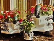 Custom Loon Planters Set Of 3 Smmedlghandmademade In Mainehand Painted