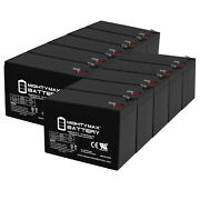 Mighty Max 12v 9ah Sla Replacement Battery For Pana - Sonic Lc-r12 - 10 Pack