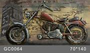 Quality Wholesale Garden Decor Custom Painting 3d Metal Motorcycle Wall Art Scul