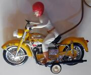 Vintage Plastic Toy Motorcycle Battery Operated Paya Spain 1960s