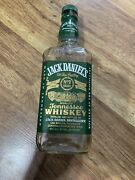 Jack Daniels No.7 Brand And039green Labeland039 Tennessee Whiskey - Empty Bottle