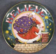 Believe Collector Plate A Mary Engelbreit Christmas Me Ink Danbury Mint