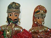 Antique Burmese Puppets Large 25 Hand Carved Head Beautiful