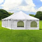 Weekender Party Canopy 20x40 Pole Tent With Sidewalls White Vinyl Fire Retardant