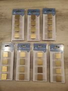 Lot Of 7 Packages Of Brainerd Brushed Brass Square Cabinet Knobs 4knobs/pack