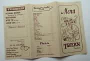 Menu For The Old Time Tavern Toms River New Jersey 60and039s Closed In 2008